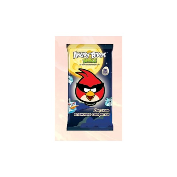 фото Набор салфеток влажных детских Авангард AB-48737 Angry Birds