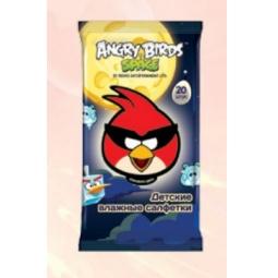 Купить Набор салфеток влажных детских Авангард AB-48737 Angry Birds