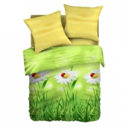 фото Комплект постельного белья Живая планета «Ромашковое лето». 1,5-спальный