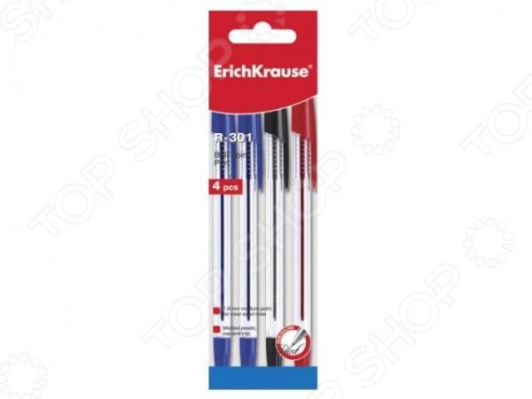 Набор ручек шариковых Erich Krause R-301 22033Ручки для школы<br>Набор ручек шариковых Erich Krause R-301 22033 комплект простых канцелярских ручек, имеют стильный дизайн и хорошее качество. Ручки выполнены из пластика и снабжены креплением на карман. Такие ручки всегда должны быть под рукой для важных записей и заметок. Отличное решение для школьного инвентаря.<br>