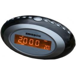 фото Радиочасы c термометром ERISSON RC-2202A. Цвет: серый
