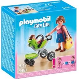 фото Конструктор игровой Playmobil «Торговый центр: Покупательница с ребенком в коляске»