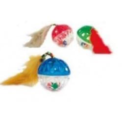 фото Игрушка для кошек Beeztees «Мяч-погремушка с хвостом». В ассортименте