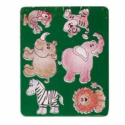 Купить Трафарет пластиковый Луч «Веселые зверята». В ассортименте