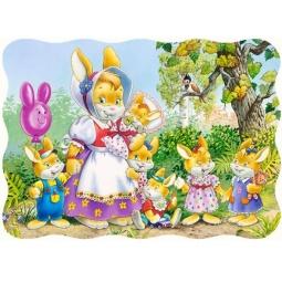Купить Пазл 30 элементов MIDI Castorland «Семья кроликов»