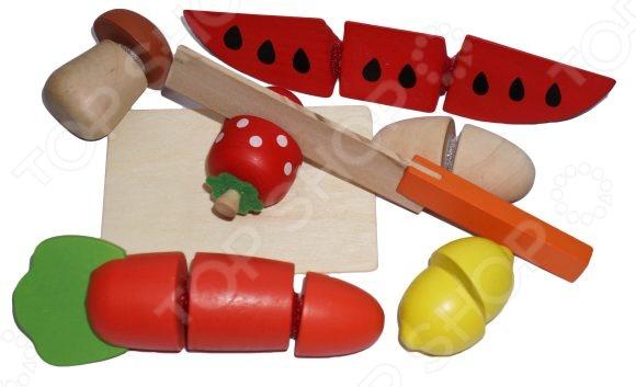 Игровой набор для ребенка Mapacha «Продукты»Сюжетно-ролевые наборы<br>Игровой набор для ребенка Mapacha Продукты предназначен для таких маленьких, но уже таких любознательных малышей. В комплекте можно найти гриб, морковку, лимон, клубнику и арбуз. Фрукты поделены на несколько частей, которые соединяются между собой при помощи липучек, поэтому их можно разрезать , используя комплектный нож. Играя с продуктами, ребенок сможет узнать больше об окружающем мире и сможет сам создавать игровые ситуации. Игрушки изготовлены из высококачественных материалов и имеют закругленные края, чтобы избежать вероятность травмирования.<br>