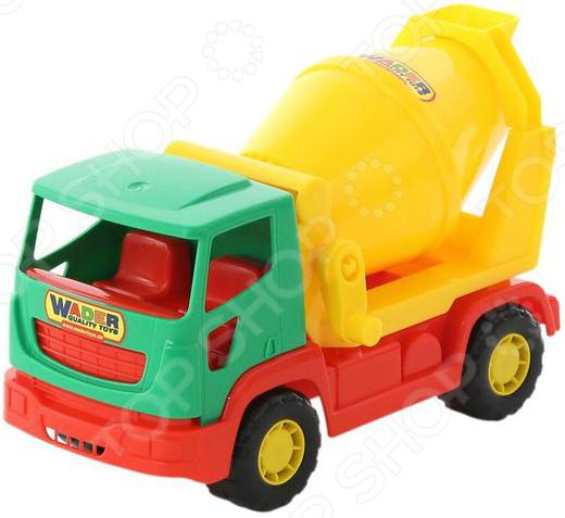 Машинка игрушечная Wader «Агат. Бетоновоз»Машинки<br>Машинка игрушечная Агат. Бетоновоз это реалистичная копия настоящего строительного автомобиля. Модель выпущена известной компанией по производству игрушек Wader. Грузовик изготовлен из пластика и обладает потрясающей детализацией. Игра на детской площадке или в песочнице с такой машинкой надолго займет малыша и не даст ему заскучать. Яркий автомобиль разнообразит игровые ситуации, откроет новые сюжеты для маленького автолюбителя и поможет развить воображение, мелкую моторику рук, внимание и координацию движений. Не упустите шанс порадовать ребенка замечательным подарком! Игрушка сертифицирована в РБ, РФ и Европе. Система менеджмента качества СООО ПП Полесье сертифицирована согласно ИСО 9001. Изделие имеет сертификат безопасности согласно норм EN 71.<br>