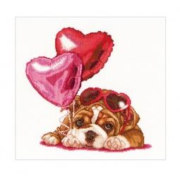 фото Набор для вышивания Gouverneur «День Святого Валентина. Щенок»
