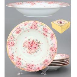 Купить Набор суповых тарелок Elan Gallery «Сакура»