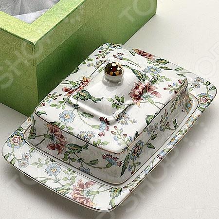 Масленка Loraine LR-21090Масленки и паштетницы<br>Масленка Loraine LR-21090 станет отличным дополнением к набору аксессуаров и принадлежностей для кухни. Она представляет собой посуду с крышкой, предназначенную для хранения и подачи сливочного масла. Масленка выполнена из высококачественной керамики и украшена оригинальным цветочным рисунком. Торговая марка Loraine это синоним первоклассного качества и стильного современного дизайна. Компания занимается производством и продажей кухонных инструментов, аксессуаров, посуды и т.д. Функциональность, практичность и инновационные решения вот основные принципы торгового бренда Loraine.<br>