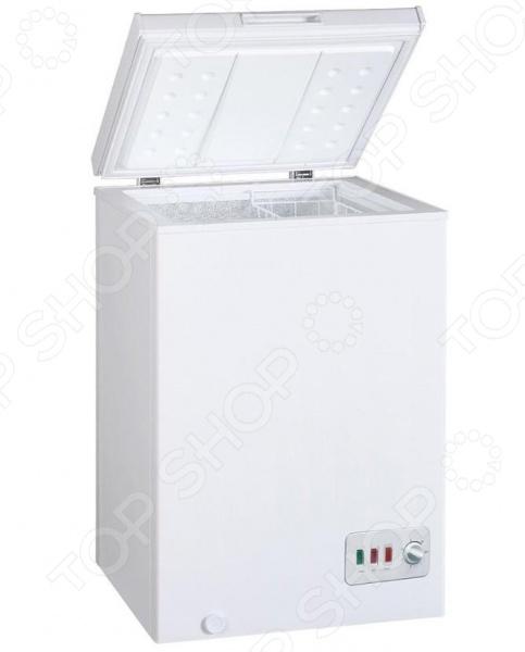 Морозильник-ларь Bomann GT 357Морозильники<br>Морозильный ларь Bomann GT 357 экономичный ларь, который позволит хранить большой ассортимент продуктов при очень низких температурах. Устройство гарантирует быстрое замораживание, при этом сохраняя холод в течении долгого периода. Размораживание производится в ручную. Управление осуществляется с помощью переключателей на механическом блоке. А самое главное - это класс энергопотребления А , благодаря этому значительно снизятся затраты на электроэнергию.<br>