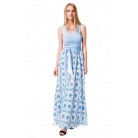Фото Платье Mondigo 6123. Цвет: голубой. Размер одежды: 48
