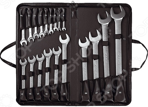 Набор ключей комбинированных Stayer Professional 2-271259-H19 набор ключей накидных изогнутых stayer мастер 27151 h6