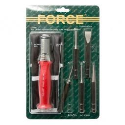 Купить Набор: ударная рукоятка со сменными бородками, зубилом и кернером Force F-906U1