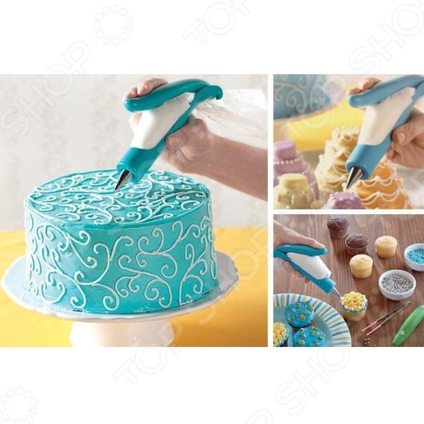 Как украсить шприцем торт