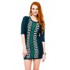 Фото Платье Mondigo 9872. Цвет: темно-зеленый. Размер одежды: 44
