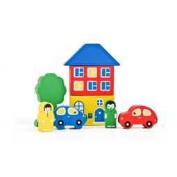 Купить Конструктор для малышей Томик «Цветной городок»