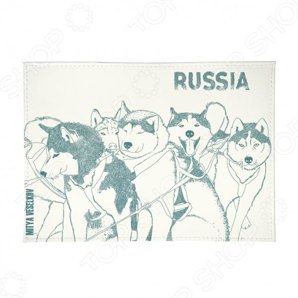 Обложка для паспорта Mitya Veselkov «Сибирские хаски» как уговорить маму собаку хаски