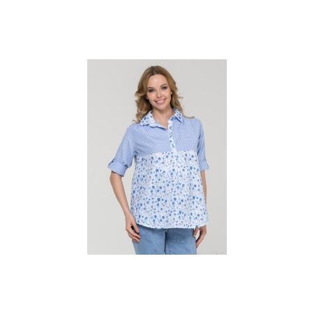 Купить Рубашка для беременных Nuova Vita 1360.01N.V. Цвет: голубой