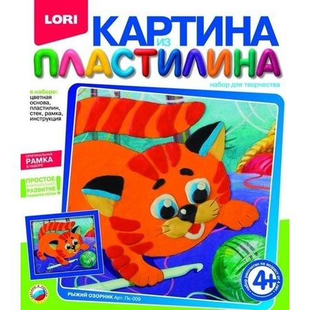 Купить Набор для создания картины из пластилина Lori «Рыжий озорник»