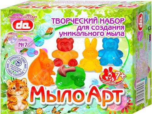 Набор для изготовления мыла ДЕТИ АРТ «Мыло Арт. Зверушки» набор для изготовления мыла дети арт фрукты от 7 лет да10004