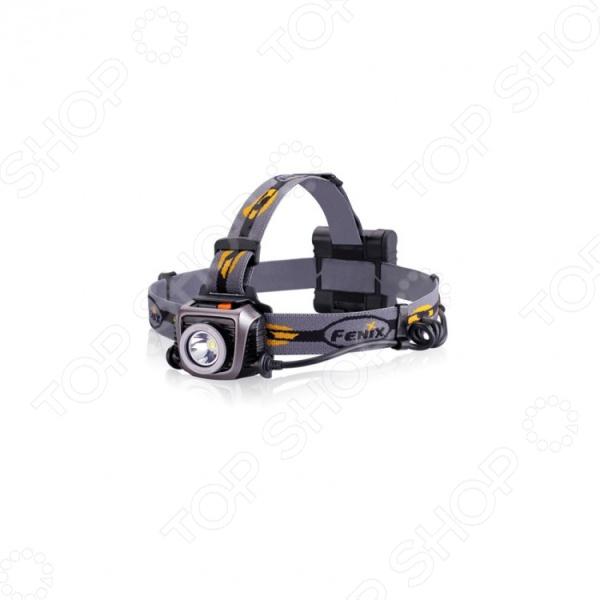 Фонарь налобный Fenix HP15UEТуристические фонари<br>Фонарь налобный Fenix HP15UE - удобная и практичная модель с 6-ю режимами яркости. Такая модель может пригодится в самых различных ситуациях: при проведении ремонта в слабо освещенных местах, в туристических походах и даже на даче или в загородных домах. Так же, налобный фонарь просто необходим велосипедистом, в том случае если им предстоит ехать в темное время суток по трассе. Модель выполнена из качественных и прочных материалов, что значительно продлевает срок эксплуатации изделия. Фонарь удобно и надежно крепиться на голове. Прочный алюминиевый корпус и стандарт водонепроницаемости IPX-6 делают модель незаменимой в работе альпинистов, а так же для проведения поисковых работ. Для того, что бы избежать случайного включения осветительного прибора во время транспортировки, модель снабдили пластиковым козырьком, защищающим кнопки управления от нажатия. Управление осуществляется 2 кнопками. Первая из них отвечает за включение выключение устройства, выбор уровня яркости, а также активацию режима SOS. Отдельная оранжевая кнопка предназначена для перевода фонаря в сверхяркий режим Burst. Работает от четырех батареек типа АА в комплекте<br>