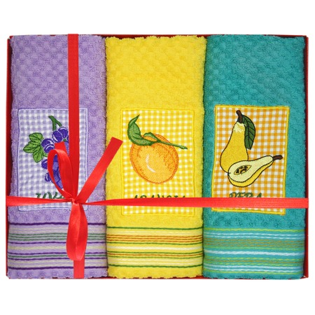 Купить Комплект из 4-х махровых полотенец подарочный BONITA с аппликацией
