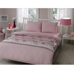 фото Комплект постельного белья TAC Croise. Евро. Цвет: розовый