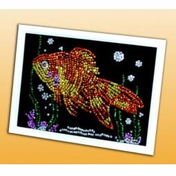 Купить Мозаика из пайеток Волшебная мастерская «Золотая рыбка»