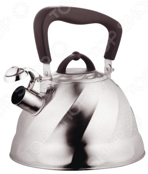 Чайник со свистком Marta MT-3044Чайники со свистком и без свистка<br>Чайник со свистком Marta MT-3044 это чайник привлекательного дизайна, который будет не просто полезным аксессуаром на кухне, но и ее украшением. Достаточно большой объем чайника позволяет закипятить в нем достаточно воды для чаепития всей семьей. Свисток своевременно сообщит вам о закипании воды, так что вы можете не волноваться, что она случайно выкипит. Чайник сделан из нержавеющей стали, бакелитовая ручка не нагревается, так что вы случайно не обожжетесь, снимая чайник с плиты. Благодаря использованию современных технологий чайник достаточно легкий по весу, быстро нагревается и безопасен в использовании. Чайник подходит для использования на любых видах плит, кроме индукционных.<br>
