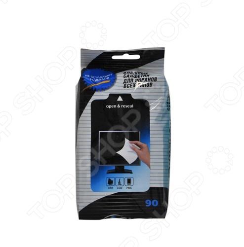Набор салфеток влажных очищающих для экранов всех типов Авангард OC-48132 Opti Clean набор салфеток влажных для холодильников и микроволновых печей авангард hl 48152 house lux