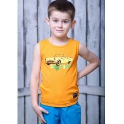 фото Майка для мальчика Detiland SS15-UET-BTP-904. Цвет: оранжевый. Рост: 116 см