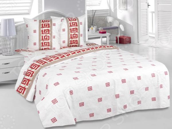 Комплект постельного белья Tete-a-Tete «Илиада». 2-спальный2-спальные<br>Комплект постельного белья Tete-a-Tete Илиада это незаменимый элемент вашей спальни. Человек треть своей жизни проводит в постели, и от ощущений, которые вы испытываете при прикосновении к простыням или наволочкам, многое зависит. Чтобы сон всегда был комфортным, а пробуждение приятным, мы предлагаем вам этот комплект постельного белья. Приятный цвет и высокое качество комплекта гарантирует, что атмосфера вашей спальни наполнится теплотой и уютом, а вы испытаете множество сладких мгновений спокойного сна. В качестве сырья для изготовления этого изделия использованы нити хлопка. Натуральное хлопковое волокно известно своей прочностью и легкостью в уходе. Волокна хлопка состоят из целлюлозы, которая отлично впитывает влагу. Хлопок дышит и согревает лучше, чем шелк и лен. Поэтому одежда из хлопка гарантирует владельцу непревзойденный комфорт, а постельное белье приятно на ощупь и способствует здоровому сну. Не забудем, что хлопок несъедобен для моли и не деформируется при стирке. За эти прекрасные качества он пользуется заслуженной популярностью у покупателей всего мира. Комплект постельного белья выполнен из ткани бязь. Бязь это одна из самых популярных тканей. Постоянному спросу на такую ткань способствует то, что на протяжении многих лет она остаётся незаменимой в производстве постельного белья, медицинской одежды, мужских сорочек и даже детских пеленок. Это объясняется уникальными свойствами такой ткани: она неприхотлива и долговечна.<br>