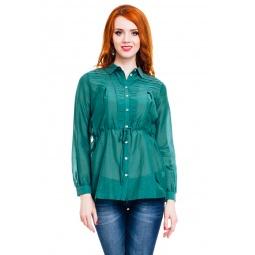 фото Блузка Mondigo 9954. Цвет: темно-зеленый. Размер одежды: 46