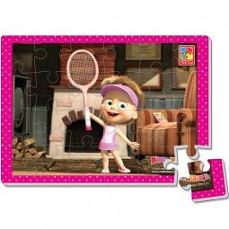 фото Пазл мягкий Vladi Toys «Маша и теннисная ракетка»