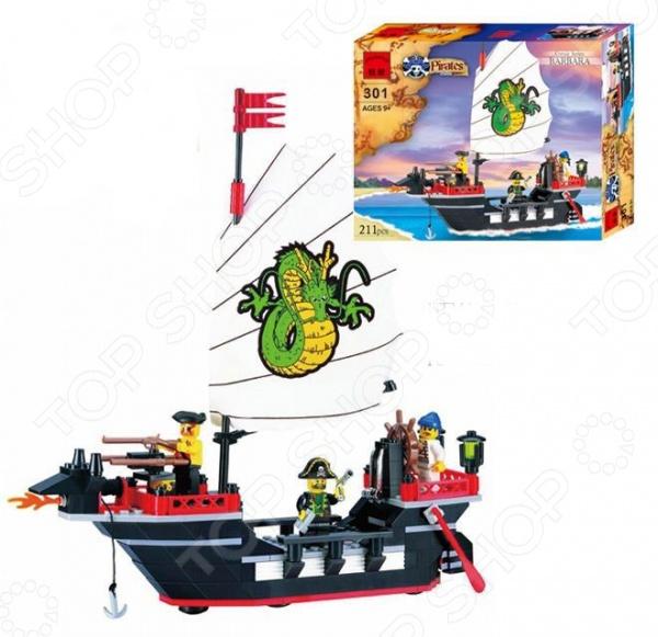 Конструктор игровой Brick «Пиратский корабль» 1717070 набор декоративных шкатулок пиратский корабль 2 штуки no name zw001192