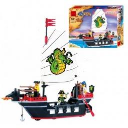 Купить Конструктор игровой Brick «Пиратский корабль» 1717070