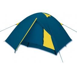 фото Палатка 3-х местная Larsen A3. Цвет: синий, желтый