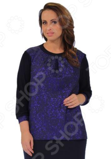 Блуза Элеганс «Впечатление»Блузы. Рубашки<br>Блуза Элеганс Впечатление это легкая и нежная блуза, которая поможет вам создавать невероятные образы, всегда оставаясь женственной и утонченной. Благодаря отличному дизайну она скроет недостатки фигуры и подчеркнет достоинства. Блуза прекрасно смотрится с брюками и юбками, а насыщенный цвет привлекает взгляд. В этой блузе вы будете чувствовать себя блистательно как на работе, так и на вечерней прогулке по городу. Универсальная длина до середины бедра и выразительный фасон позволяют надеть ее не только в офис или на прогулку, но и на официальные мероприятия. Удобные рукава скрывают несовершенства в области плеч. Круглый вырез горловины, декорированный тесьмой, визуально удлиняет шею и украшает область декольте. Швы обработаны текстурированными, эластичными нитями, благодаря чему не тянутся и не натирают кожу. Оригинальный принт блузы это не только элемент стиля. Он имеет важную функцию: яркая расцветка, отвлекает внимание от недостатков и облегчает силуэт. Это классический и эффективный прием, помогающий добиться гармоничных пропорций тела. Блуза изготовлена из мягкого материала 97 полиэстер, 3 эластан , благодаря чему материал не скатывается и не линяет после стирки. Полиэстер предохраняет вещь от измятия и быстро высыхает после стирки. Даже после длительных стирок и использования эта блуза будет выглядеть идеально. Материал является антистатическим и обладает хорошей воздухопроницаемостью.<br>