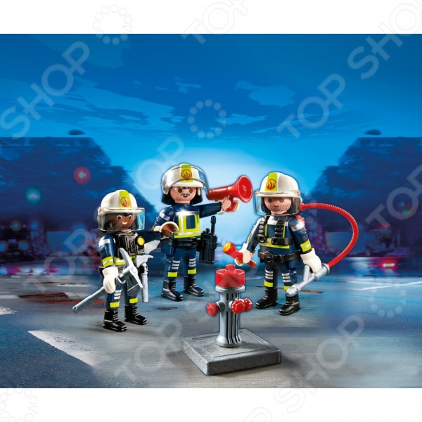Конструктор игровой Playmobil 5366pm «Пожарная служба: Команда пожарников» welly welly набор служба спасения пожарная команда 4 штуки