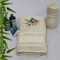 фото Полотенце махровое Mariposa Tropics d.white. Размер полотенца: 50х90 см