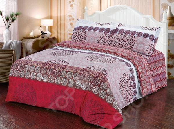 Комплект постельного белья Softline 10337. 1,5-спальный1,5-спальные<br>Комплект постельного белья Softline 10337. 1,5-спальный станет отличной покупкой и подарит комфорт во время сна. Все элементы комплекта сшиты из натурального хлопка, который приятен на ощупь и не вызывает раздражения кожи. Все изображения, имеющиеся на постельном белье, нанесены при помощи устойчивого красителя, который не вызывает аллергических реакций. Мягкая и нежная ткань отличается хорошей воздухопроницаемостью, поддерживая комфортный уровень влажности во время сна. Хлопок экологически чистый материал, который издревле используется для изготовления одежды, постельного белья и многого другого. Согласно древним индийским писаниям, волокна хлопка использовались для шитья подушек богов, а сон на них приносит спокойствие и умиротворение. Яркие цвета и затейливый узор полотна будет радовать вас своей насыщенностью и добавят в повседневную жизнь немного красок.<br>