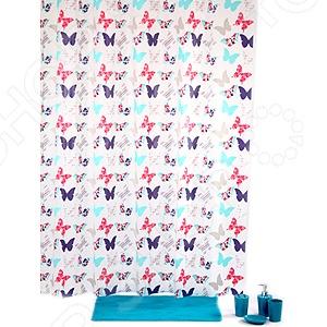 Штора для ванной с крючками White Fox WBCH10-116 White Fox - артикул: 529505