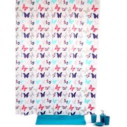 Купить Штора для ванной с крючками White Fox WBCH10-116