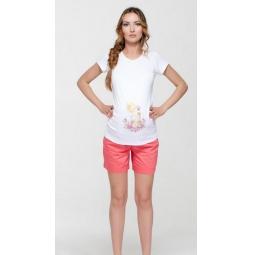 Купить Шорты для беременных Nuova Vita 5722.01. Цвет: коралловый