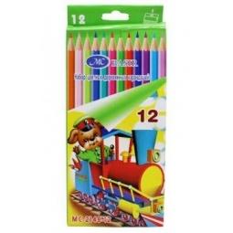 Купить Набор карандашей цветных Miraculous «Паровоз с мишкой»