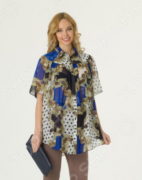 Блузка для беременных Nuova Vita 1601.2. Цвет: синий