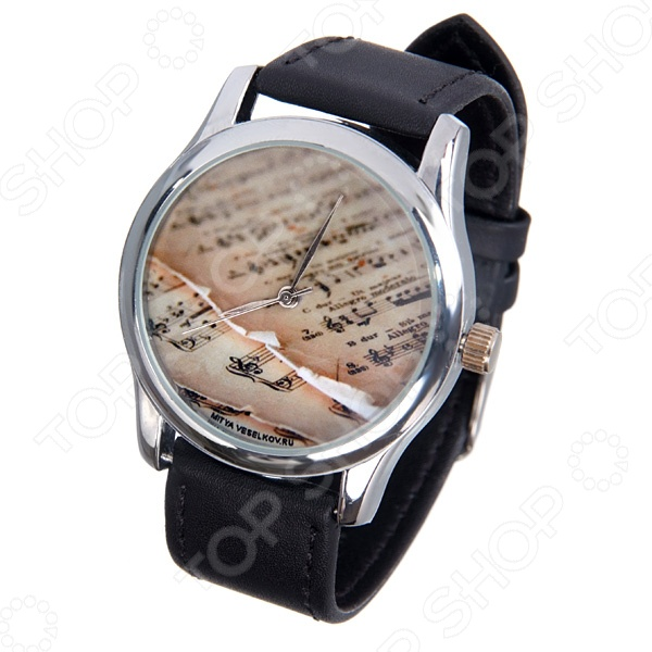 Часы наручные Mitya Veselkov «Ноты» MV часы наручные mitya veselkov часы mitya veselkov много скандинавских лошадок арт mv 178