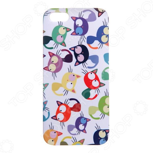 Чехол для iPhone 5 Mitya Veselkov «Цветные кошки» цена 2017