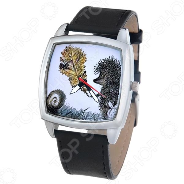 Часы наручные Mitya Veselkov «Ежик с листочком»